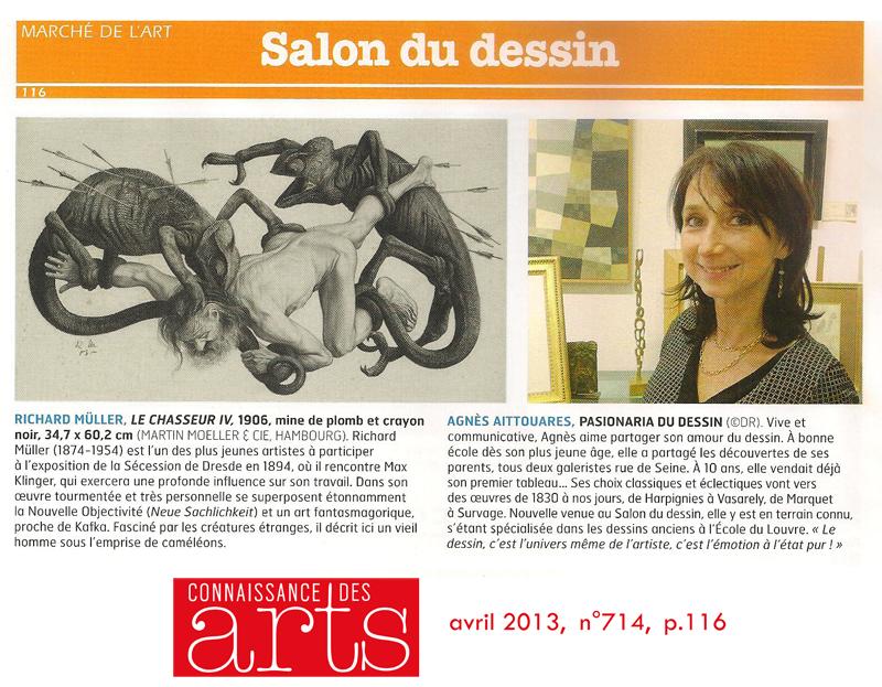 Connaissance Des Arts Avril 2013 Galerie AB Paris