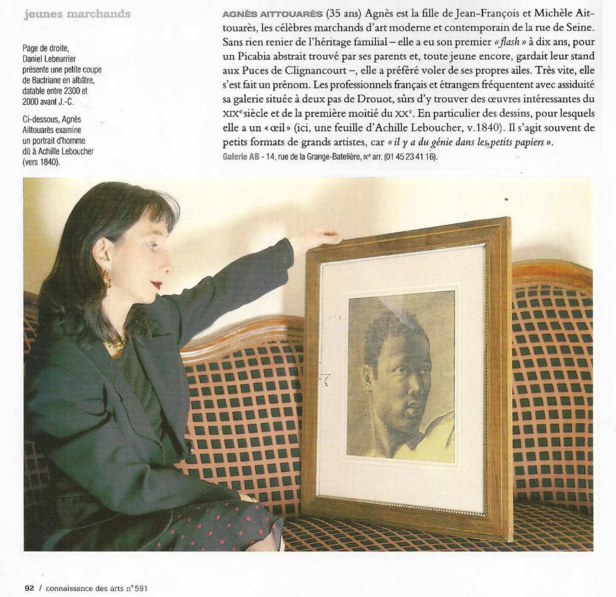 Connaissance des arts 2002 Galerie AB Paris