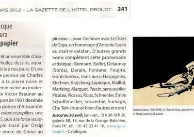 La Gazette de l'Hôtel Drouot – 2012