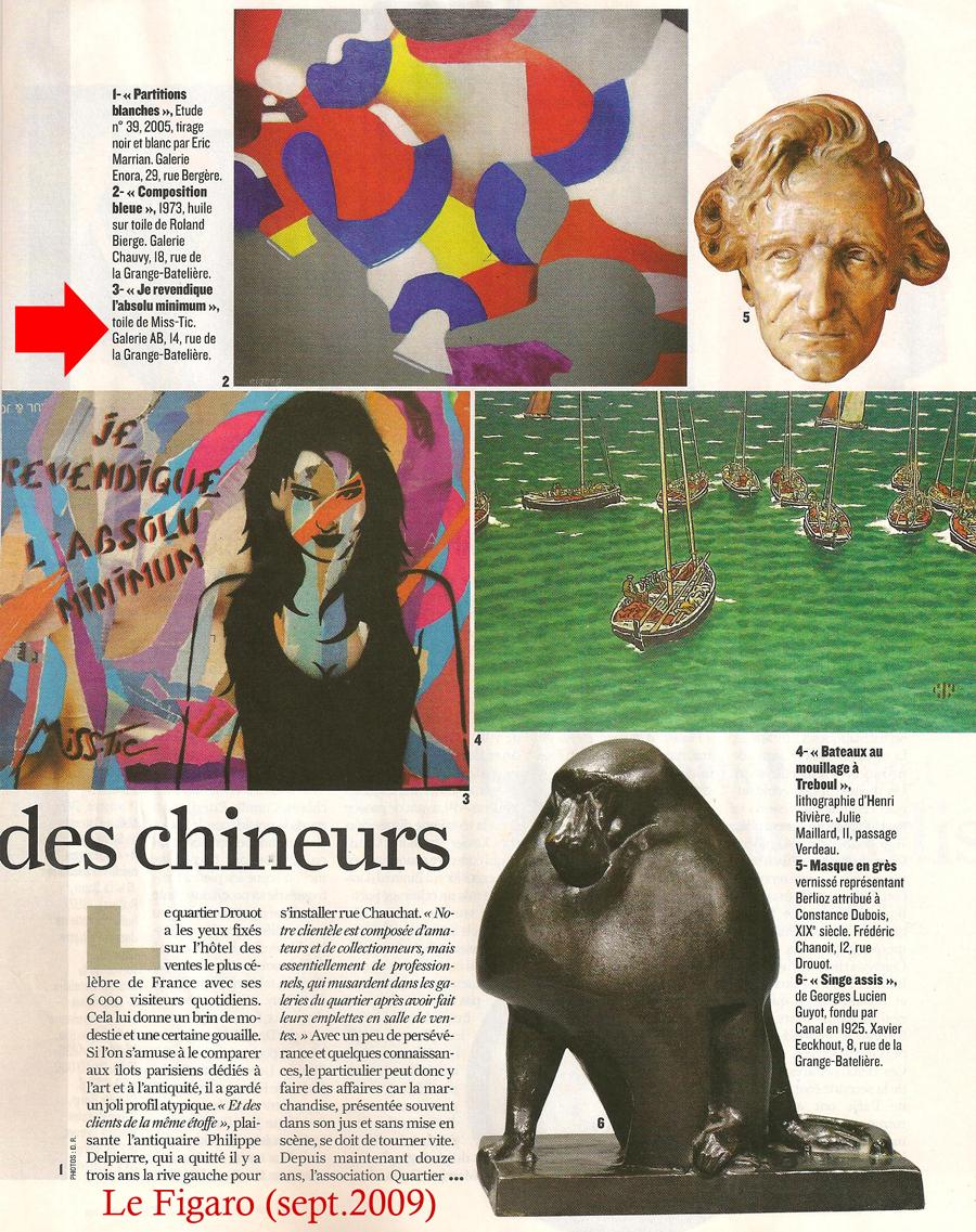 Le figaro 2009 Galerie AB Paris
