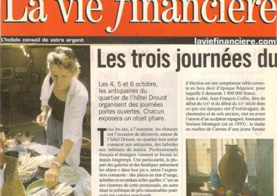 La vie financière 2001