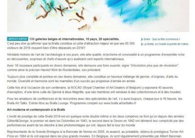 La libre Belgique – Janvier 2019