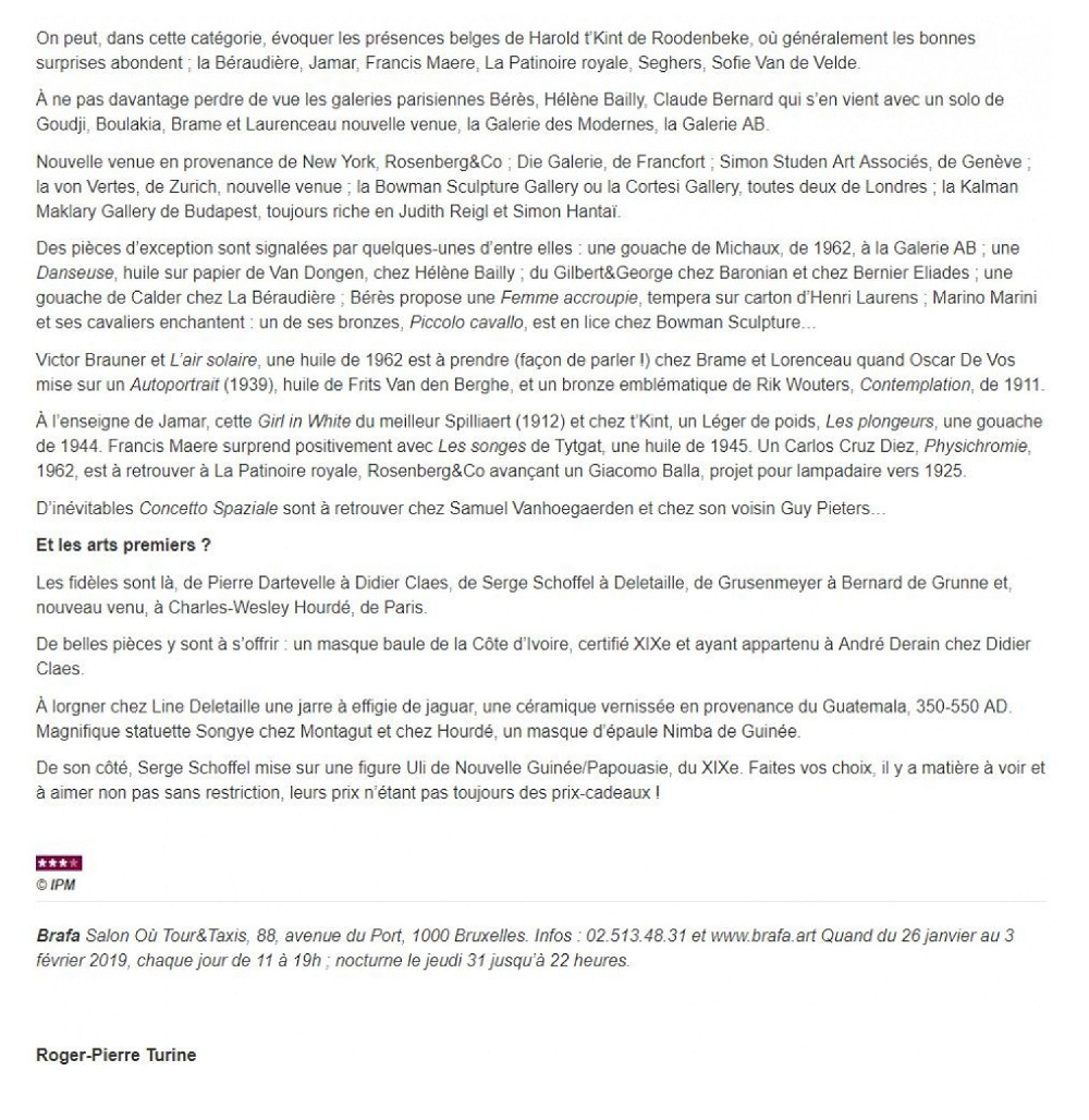 La-Libre-Belgique---Arts-Visuels-Galerie-AB-Paris-BRAFA-2019-2