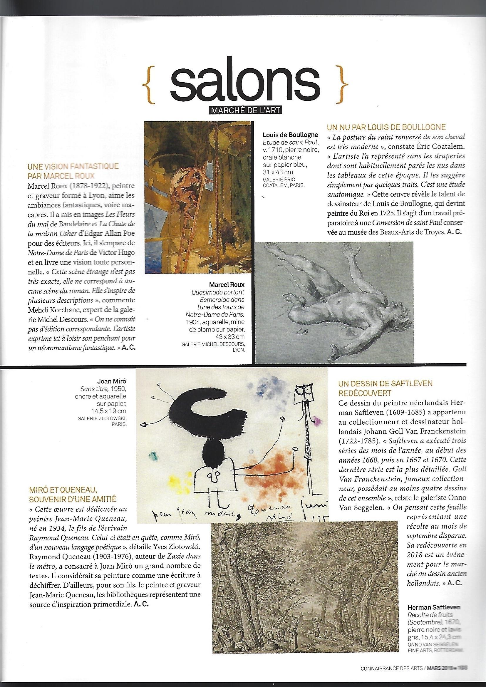 Connaissance des Arts Salon du Dessin 2019 Galerie AB Paris_Page_2