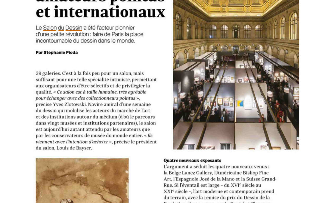 Le quotidien de l'art Salon du dessin 2019