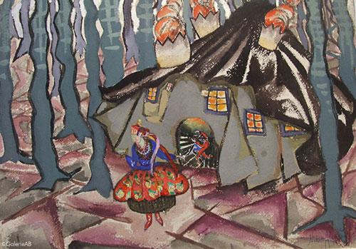 Alexandrowicz-La-jeune-fille-et-le-diable-Galerie-AB-Paris-expertises-d'oeuvres-d'arts-et-estimations-tableaux