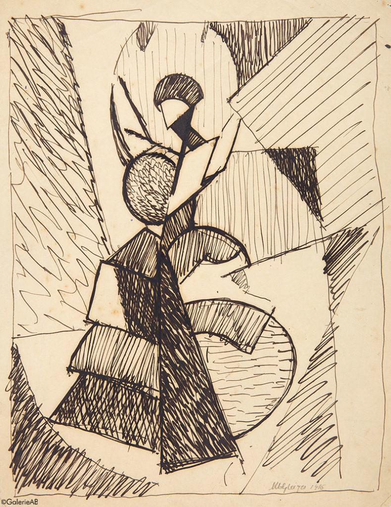 GLEIZES-Danseuse-Espagnole-1916-Galerie-AB-Paris-expertises-objets-art-et-estimations-tableaux